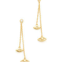 Shashi | Evil Eye Gold Drop Earrings