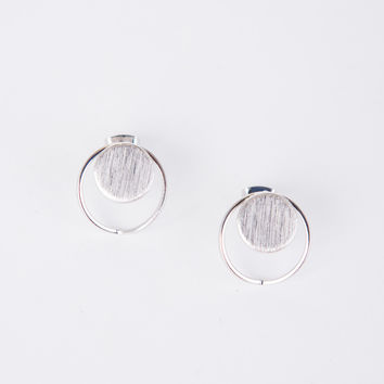 Circle Circle Stud Earrings