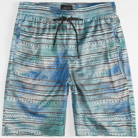 Valor Tribal Print Mens Mesh Shorts Blue  In Sizes
