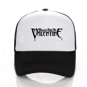 Fashion print Bullet for my valentine With the rock and roll Men's and women's baseball Cap Music theme Snapback Women Cap