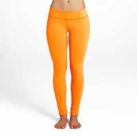 Essential Long Legging - Bright Papaya