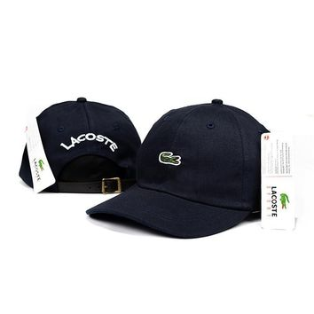 Day-First™ LACOSTE Women Men Fashion Embroidery Adjustable Travel Hat Sport Cap