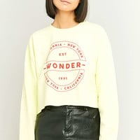 BDG Wonder Crew Neck Lime Green Sweatshirt - Urban Outfitters