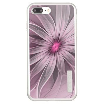 Pink Flower Waiting For A Bee Abstract Fractal Art Incipio DualPro Shine iPhone 7 Plus Case