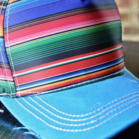 Blue Serape Baseball Hat