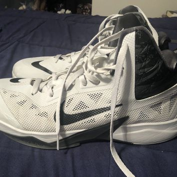 Nike Basketball Shoes Size 14 Gray And White KD