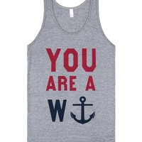 You Are A Wanker (Anchor Tank)-Unisex Athletic Grey Tank