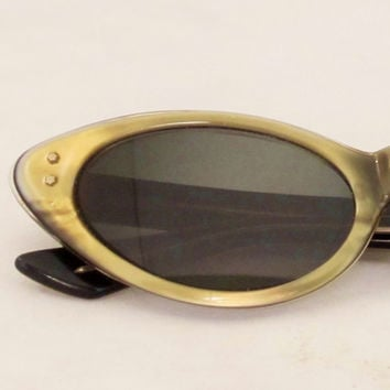Vintage Cat Eye Glasses PEARLESCENT Capistrano by AMERICAN OPTICAL