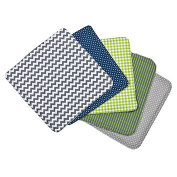 Perfectly Preppy 5 Pack Wash Cloth Set