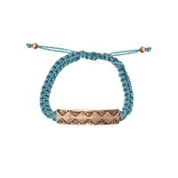 House of Harlow 1960 Jewelry Diamondhead Macrame Bracelet