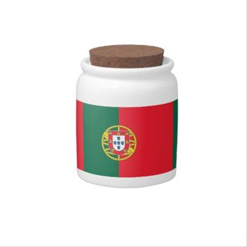 Portugal Flag on Candy Jar