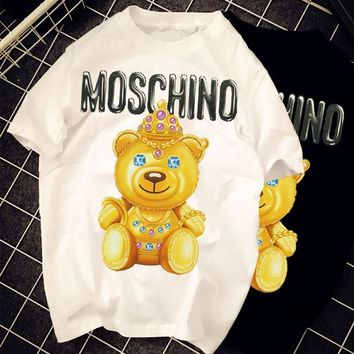 "Moschino ""Queen Bear"" Fashion Women T Shirt"