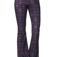 LA Hearts Suede Knit Flare Pants - Womens Pants - Navy/Red
