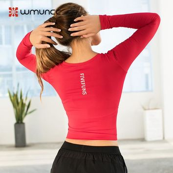 High Stretchy Seamless Gym Crop Top Workout Shirts for Women Long Sleeve Fitness Yoga Top Sports Shirt Athletic Soft