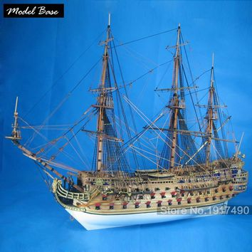 Ship Model Kit Adult Diy Scale 1:50 3d Laser Cut Wooden Ships model Kids Models Wood Boats Educational Games Children San Felipe
