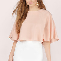 Cool Breeze Flutter Crop Top