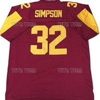 Kooy OJ Simpson Football Jersey Custom Any Name Any Number Stitched American Football Jersey S-4XL  Free Shipping