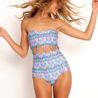 Stone Fox Swim Zephyr one piece in arrows