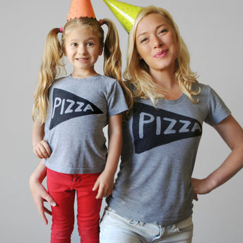 Mommy and me shirts, Matching Pizza shirts, twinning outfit, matching mother daughter gifts for mom funny gift for wife, graphic tees