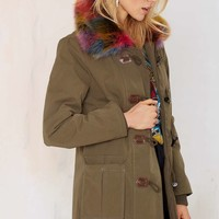 Nasty Gal Outsider Faux Fur Parka