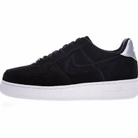 "Nike Air Force 1 '07 Low Velvet ""Black&Sliver""896185-003"
