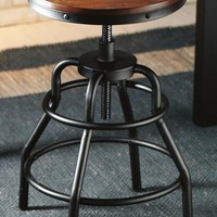 Industrial Mansard Stool - Stools -  Home Bar -  Furniture | HomeDecorators.com