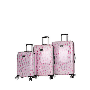 FLAMINGO STRUT SPINNER 3 PIECE SET: Betsey Johnson