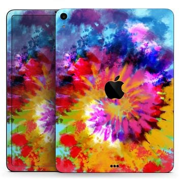 """Spiral Tie Dye V8 - Full Body Skin Decal for the Apple iPad Pro 12.9"""", 11"""", 10.5"""", 9.7"""", Air or Mini (All Models Available)"""