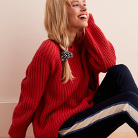 Aerie Pullover Sweater, Washed Red