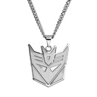 Transformers Stainless Steel Decepticon Pendant Necklace - Men (Grey)