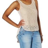 Crochet Front Side Slit Tank