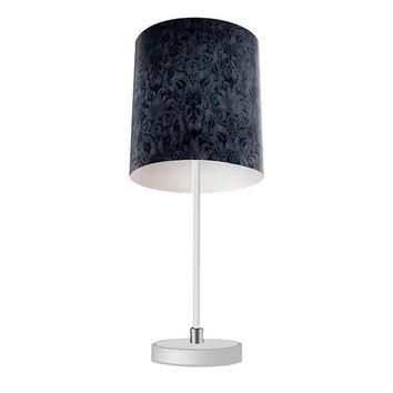 Blue Brocade Table Lamp