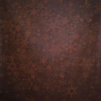 Orange Red Snowflakes Backdrop - 6x8 - LCCRSL368 - LAST CALL