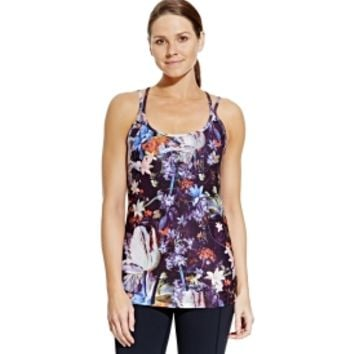 CALIA by Carrie Underwood Women's Printed Double Strap Tank Top