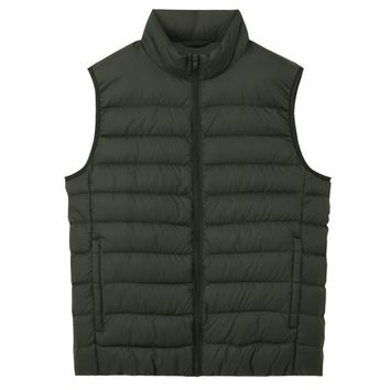 Men Light French Down Stand Collar Vest