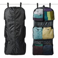 RuMe Tri-fold Garment/Clothing Travel Organizer Bag With Attached Packing Cubes For Clothes And Shoes (Choose Your Color)