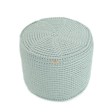 handmade crocheted KING size POUF