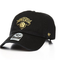 New York Knicks Metallic Clean Up Strapback Hat by '47