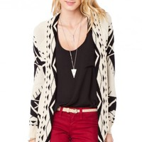 Tallulah Cardigan in Black and Cream - ShopSosie.com