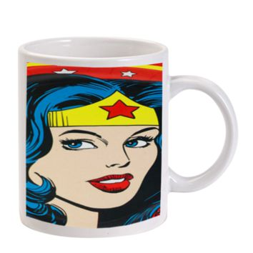 Gift Mugs | Wonder Woman Red Lips Ceramic Coffee Mugs