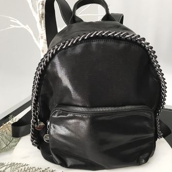 Stela Metallic Chain Backpack