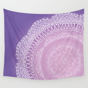 Purple and Pink Mandala Tapestry Wall Hanging Meditation Yoga Grunge Hippie