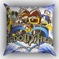 Kingdom Hearts Original Soundtrack X1213 Zippered Pillows  Covers 16x16, 18x18, 20x20 Inches