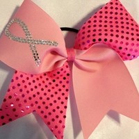 Cheer Bows Cheerleading bows bow, CHEER ALL STAR BOWS Breast Cancer Bows