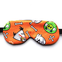 Angry Birds Green Pig Sleep Eye Mask Nap Blindfold Kid Man Boy Travel Night Nap