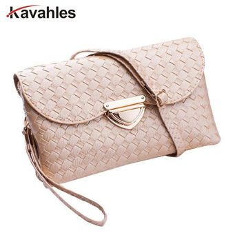 Women Handbags Weaved Leather Lady Cross Body Shoulder Bags Money Phone Envelope Bag Woman Messenger Casual Tote Bags C40-219