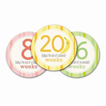 Neutral Pregnancy Milestone Stickers