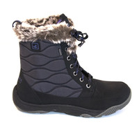 Sperry Top-Sider Winter Cove Boot - Black Waterproof Lace-Up Boot