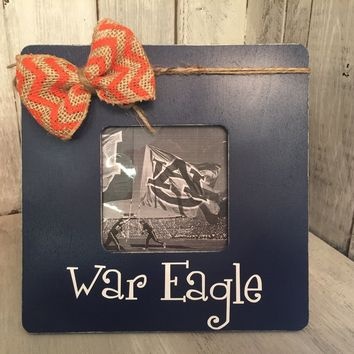Auburn Picture Frame / Rustic Picture Frame / Auburn University game day Picture Frame