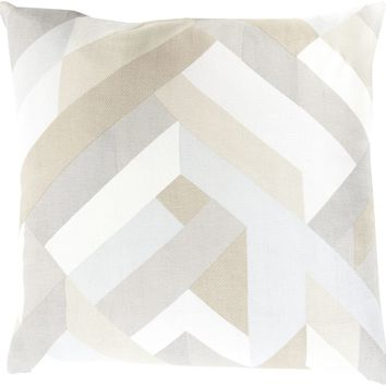 Teori Throw Pillow Neutral, Neutral